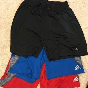 Men's Lg and Med adidas athletic shorts